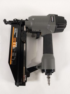 "NuMax SFN64 Pneumatic 16-Gauge 2-1/2"" Straight Finish Nailer Ergonomic and Lightweight Nail Gun with Tool-Free Depth Adjust and No Mar Tip"