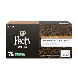 Peet's Coffee Major Dickason's Blend K-Cup Coffee Pods for Keurig Brewers, Dark Roast, 75 Pods