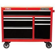 CRAFTSMAN 2000 Series 41-in W x 35-in H 7-Drawer Steel Rolling Tool Cabinet (Red)