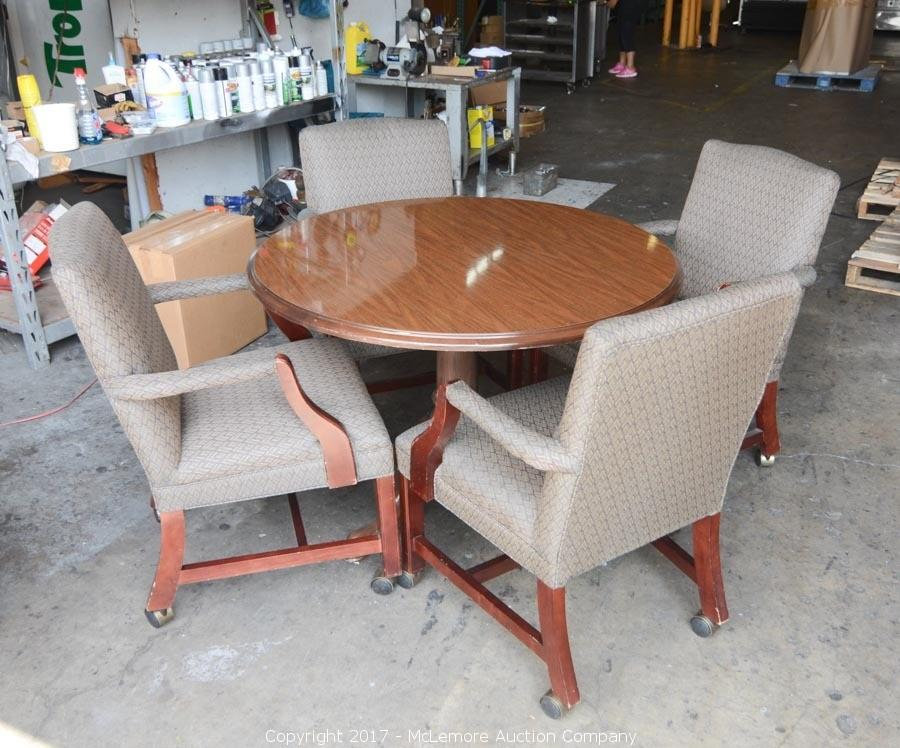 McLemore Auction Company Auction Office Furniture And ThermaTek - Round conference table for 4